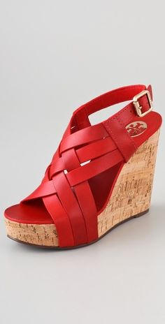 fd25c9de8e0a01 Ace High Wedge Sandals. SHOPBOP. These leather Tory Burch ...