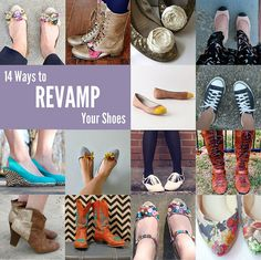 Multiple ways to revamp your shoes! Wild and creative!