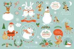 Christmas Set by lenlis on Creative Market