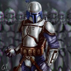 Jango Fett by DarkeDny. #StarWars #Art #gosstudio .★ We recommend Gift Shop: http://www.zazzle.com/vintagestylestudio ★