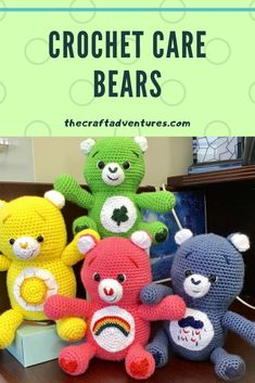 Care bear crafts for everyone care bear crochet Care bear cross stitch care bear free graph free care bear crafts free patterns amigurumi Crochet Amigurumi Free Patterns, Crochet Bear, Crochet Toys, Free Crochet, Bear Crafts, Bear Patterns, Cross Stitch Pictures, Craft Free, Animal Projects