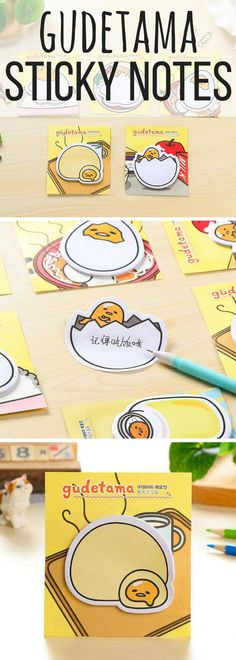 Gudetama is one of my favourite Japanese characters! These sticky 8bf418a5c5bfa