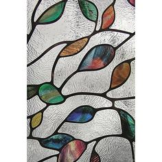 Artscape 24 in. x 36 in. New Leaf Decorative Window at The Home Depot . I want to add this to my French doors between the my bar and living room. Tired of the curtains folie Artscape 24 in. x 36 in. New Leaf Decorative Window Frosted Window Film, Stained Glass Window Film, Stained Glass Angel, Window Glass, Glass Partition, Blown Glass Art, Glass Wall Art, Diy Sticker, Glass Art Design