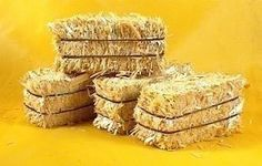 """Miniature 2"""" Hay Bales - Great for craft projects -  p/n 101-0802 - 6 Bales:"""
