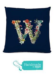 Great price on Amazon Handmade ... i need to order as a wedding gift!   initial Pillow - Floral Letter Pillow - Pillow with Letter W - Monogrammed Pillow - Custom Throw Pillow Flower Monogram Pillow from Michelle O'Hollaren https://www.amazon.com/dp/B01AV61790/ref=hnd_sw_r_pi_awdo_u2dTxbVF9XDAY #handmadeatamazon