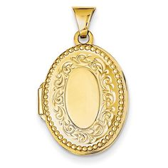 14k Yellow Gold Oval Family Locket. Metal Wt- 1.45g Jewelry Pot. Beautiful and simply elegant.