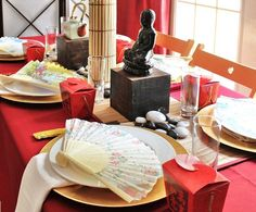Asian Themed dinner party - wouldn't it be fun to have monthly around the world dinner parties?