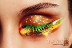 Burger King Cheeseburger Eye Makeup