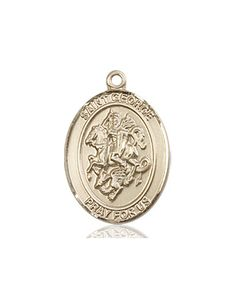 St. George Medal (14kt Gold) by Bliss | Catholic Shopping .com