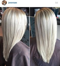 Dimensional ash blonde hair with layers