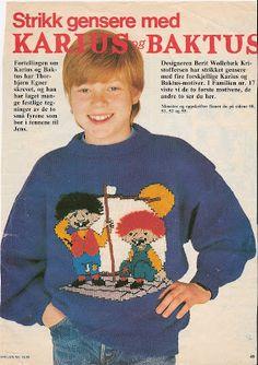 Her er mønster på gensere fra 1988. Dei er alltid like populære.