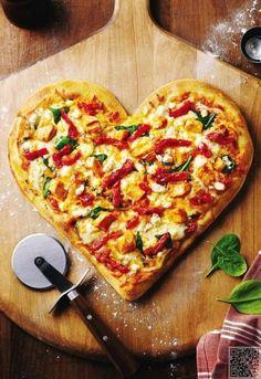 15. le #coeur en forme de #Pizza - 43 heart #Shaped Foods pour la…