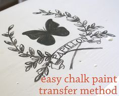 How to Transfer an Ink Jet Image onto Chalk Paint - using water and a brayer - via The Graphics Fairy