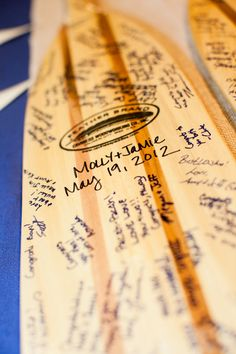 Guest Books & Well Wishes Ideas, Wedding Invitations Photos by T-Poz photography...Guest Book on oars?! YES. Decided.
