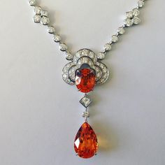 Louis Vuitton Jewellery Orange garnet and diamond pendant from the Blossom Collection. Via Katia de Lasteyrie (@katiadelasteyrie) on Instagram.