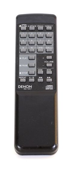 Denon RC-247 Remote Control ▷ Provinces Of China, Tv Remote Controls, Pause, Audio, Antiques, Vintage, Antiquities, Antique, Vintage Comics