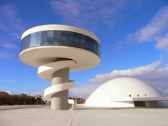 In November I headed to the town of Aviles in Asturias in the north of Spain. It's a long trip to get there - flying from Edinburgh to Lond. Spanish Modern, Cultural Center, Places To Eat, Spain, To Go, Culture, Oscar Niemeyer, Drink, Beverage