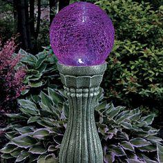 Color-Changing Solar Gazing Ball ~ $99.99 at improvementscatalog.com