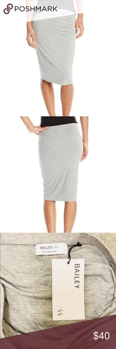 Bailey 44 Bianca Skirt in Heather Size Small 94% Rayon/6% Spandex Made in US Dry Clean Only Classic pencil skirt in jersey featuring elastic waistband and double lining Bailey 44 Skirts Pencil