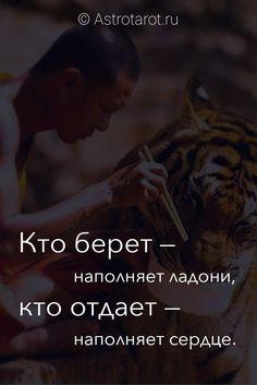 Кто берет — наполняет ладони, кто отдает — наполняет сердце. © Astrotarot #дзен #цитаты #astrotarot #астротарот
