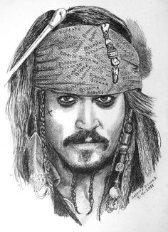 Johnny Deep by RobertoBizama on deviantART - Art Sketches Realistic Pencil Drawings, Pencil Portrait Drawing, Portrait Sketches, Pencil Art Drawings, Amazing Drawings, Art Drawings Sketches, Disney Drawings, Cool Drawings, Art Sketches