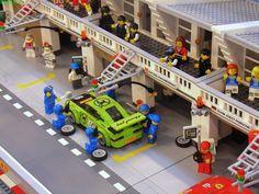 MegaMOC 2014 - LEGO Town - Eurobricks Forums Lego Car, Nascar Race Cars, Lego Speed Champions, Lego Vehicles, Lego Room, Disney Land, Lego Projects, Lightning Mcqueen, Cool Lego