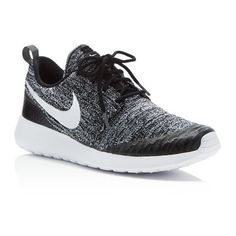 Nike Women's Roshe One Flyknit Sneakers via Polyvore featuring shoes, sneakers, breathable sneakers, nike footwear, breathable shoes, flyknit shoes and nike