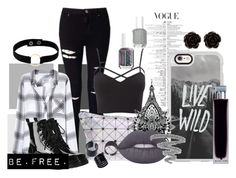 """""""LIVE.WILD.BE.FREE."""" by aestheticallyashlee ❤ liked on Polyvore featuring Miss Selfridge, Charlotte Russe, Casetify, Tattify, Lime Crime, Yves Saint Laurent, Rails, Gia-Mia, Erica Lyons and Manokhi"""