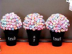 Lollipop Trees - paint different rainbow colors