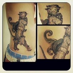 Puss in Boots as designed by Gustave Doré, inked by Mr No.