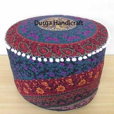 Furniture Special Section Indian Tie Dye Mandala Pouf Ottoman Cover Round Floor Footstool Ethnic Pouffe Ottomans & Footstools