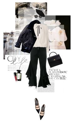 """""""Frayed Ruffles"""" by lovelifeandpeace ❤ liked on Polyvore featuring Zara, Chanel, Michelle Mason, L'Artisan Parfumeur, Gucci, Marques'Almeida, Christian Dior, Dior, blackandwhite and ruffles"""