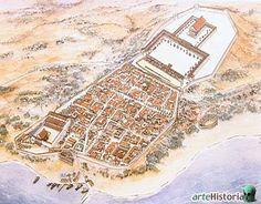 En la siguiente ilustración podemos ver un dibujo con la visión de Roma en la antigüedad.