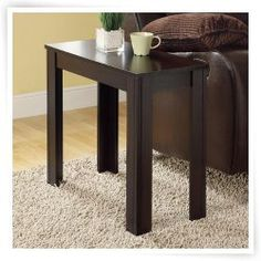 Monarch Rectangular Cappuccino Wood Accent Side Table