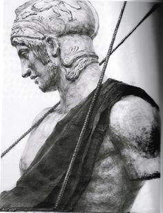 石膏 参考作品 マルス Roman, Charcoal, Creatures, Sketches, Statue, Drawings, Classic, Illustration, Painting