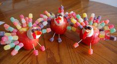 turkey made from apple | Apple Turkeys