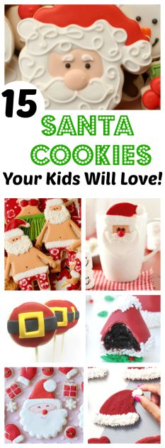 Have you started your Christmas baking yet? You will want to check out these amazing Santa Cookies! 15 Santa Claus Cookies Your Kids Will Love Christmas Crafts For Kids, Christmas Desserts, Simple Christmas, Christmas Treats, Christmas Baking, Christmas Traditions, Christmas Cookies, Holiday Foods, Christmas Eve