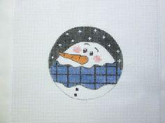 $9.95         Fat Snowman Christmas Ornament Handpainted Needlepoint Canvas