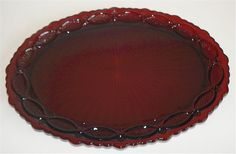 avon cape cod cup   Avon 1876 Red Ruby Cape Cod Oval Serving Platter