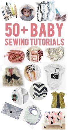 50 baby sewing tutorials