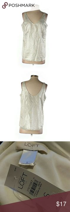 "Ann Taylor Loft Metallic Tank NWT. 34"" chest, 18"" long. All pictures are of the actual item that you will receive. Smoke-free home. LOFT Tops Tank Tops"