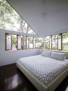 Diseño de dormitorio bien iluminado