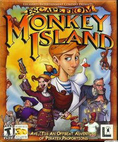 Shop for Lucas Classic Line: Escape From Monkey Island (pc Cd). Starting from Choose from the 2 best options & compare live & historic video game prices. Jules Verne, Classic Rpg, Lucas Arts, Monkey Island, Game Prices, Adventure Games, I Am Game, The Good Old Days, Game Art