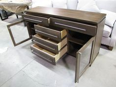 open cabinet for dining room