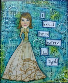 Christina (seena) Young with a pretty collage project that is simple to put together using matte medium AND gELATOS..