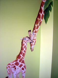 I love this art work on a child's bedroom wall<3