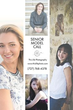 MODEL CALL! I'm scheduling high school Juniors/incoming Seniors (guy or girl) during Senior Week! I will be doing 15-20 minute sessions on April 14th and April 15th in downtown St. Pete! Contact me through my website for details!