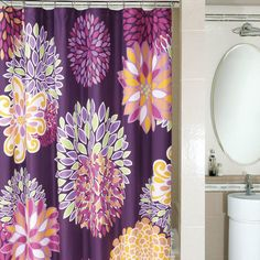 Spice up your shower with this bright and fun shower curtain!...Since I'm in need of a new one now...