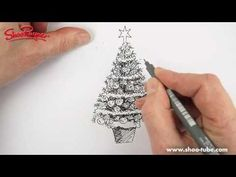 How to draw a Christmas tree like an artist.... Art Ed Central
