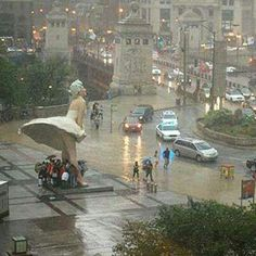 Manrilyn Monroe statue in downtown chicago